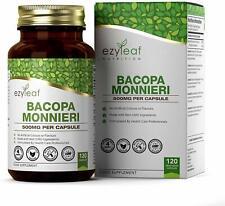 Bacopa Monnieri MAX Strength 10:1 Extract | 120 Capsules | Memory Anxiety Stress