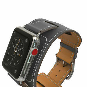 Apple Watch Band Genuine Leather Cuff Strap 38/40mm 42/44mm Series 1 2 3 4 5 6