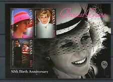 Guyana 2011 MNH Princess Diana 50th Birth Anniv 3v M/S Charles Royalty Stamps