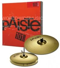"PAISTE 101 Essential Set 14 ""CIAO Cappelli & 18"" CRASH RIDE CIMBALI Set p101bs214"