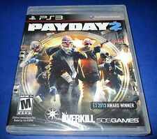Payday 2 Sony PlayStation 3 *Factory Sealed! *Free Shipping!