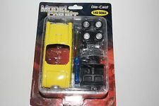 MODEL CAR KIT, THUNDERBIRD, 1:43 SCALE DIE CAST, YELLOW