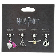 Official Harry Potter Silver Plated Spell Bead Charm Set (pack of 4 Beads)