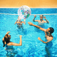 2x Sequin Beach Ball Inflatable Ball Summer Funny Swim Water Play Pool for Kids