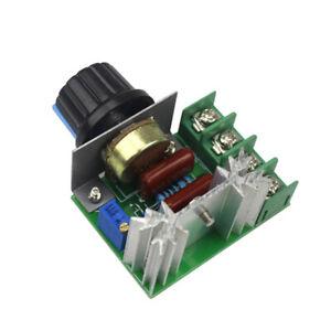 AC 220V SCR Dimmers Motor 2000W Motor Controller Thermostat  Voltage Regulator