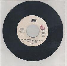 "AC/DC FOR THOSE ABOUT TO ROCK GINO SOCCIO IT'S ALRIGHT PROMO JUKE BOX 7"" 45 GIRI"