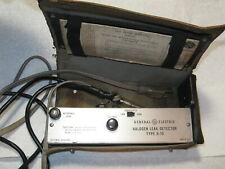 New listing Vintage General Electric Type H-10 Halogen Leak Detector Tester for parts or rep
