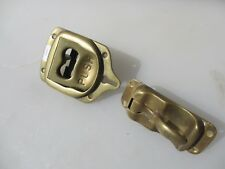 "Vintage Brass Latch Handle Antique Train Carriage? ""The Trousdale Lock Company"""