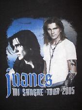 JUANES CONCERT T SHIRT vtg Mi Sangre 2005 Tour Cities Un Dia Normal Latin Pop XL