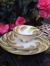 Vintage Winterling Roslau Bavaria Tea Coffee CUP Saucer Plate 3 pc Gold Decor