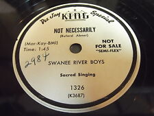 Swanee River Boys: Not Necessarily / He Lifted Me From Sin 78 - Gospel
