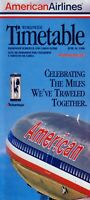 American Airlines Timetable  June 16, 1996 =