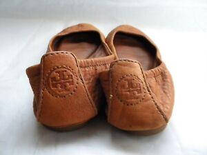 Tory Burch Eddie Tan Leather Ballet Flats Size 5