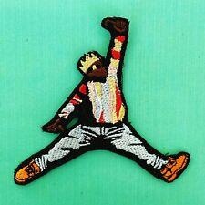 More details for iron on patch - biggie jordan jump embroidered hip hop rap