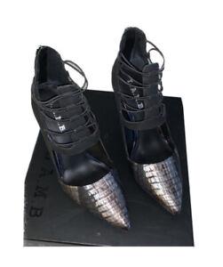 NWT Womens L.A.M.B. Leather High Heels Size 7.5