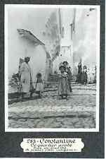 Algérie, Constantine, le quartier arabe, jeunes filles indigènes  Vintage print