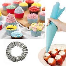NEW! 24pcs Icing Piping Nozzles & Silico Bag Tips Cake Decorating Tools B
