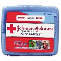 "Johnson&johnson Safe Travels First Aid Kit - 70 X Piece[s] - 5.5"" X 6.3"" X 1.6"""