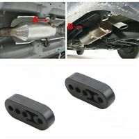 2 x Rubber Exhaust Tail Pipe 4 Holes Mount Brackets Hanger Insulator