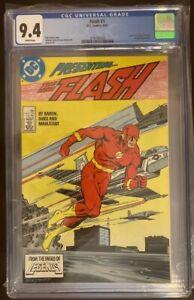 FLASH 1 CGC 9.4WHITE PAGES COPPER AGE 1987 DC COMICS