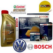 KIT TAGLIANDO VW GOLF 5 V 1.9 TDI Bosch 5l OLIO CASTROL EDGE Professional 5W30
