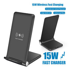 UK 15W Qi Wireless Charger Pad Stand For i Phone 11Pro X 8Plus XS XR Samsung S10