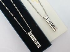REVERSIBLE SOS/CADUCEUS TALISMAN NECKLACE MEDICAL INFORMATION/STAINLESS STEEL