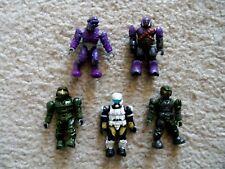 Mega Bloks Halo Soldier Minifigs - 2 Marines Brute Elite & Spartan - Rare