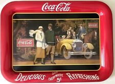 VINTAGE 1924 Coke COCA-COLA Drink BEVERAGE Soda Advertising METAL Serving TRAY