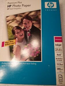 Box HP Premium Plus Photo Paper 4 x 6 High Gloss 100 Sheets From 2004