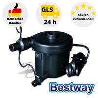 Bestway Elektroluftpumpe Pool Luftpumpe mit 3 Aufsätzen Elektrische Luftpumpe