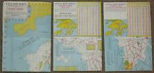 Vintage Maps of Hong Kong ~ 1972 ~ Set of 3 maps ~ British Crown Colony~ EUC