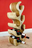 Weinregal Holz Weinschrank Flaschenregal Flaschenhalter Massivholz Weinständer