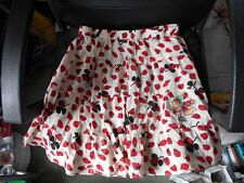 Laura Lees at Topshop Retro Pattern Red Ladybirds Cotton Skirt  Small Embroidery
