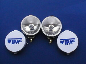 CLASSIC MINI CHROME WIPAC DRIVING LIGHTS, BOXED PAIR WITH COVERS, (SPOT LIGHTS)