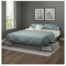 Storage Platform Bed Full/Queen SoHo Bedroom Furniture Home Beds with 2 Drawers