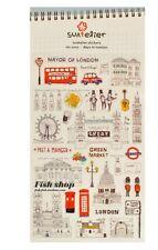 Ciudad de Londres Reino Unido Transparente Scrapbook Diario álbum Decoración Pegatinas Scrapbook