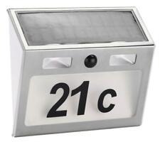 Solar Hausnummer mit LED Beleuchtung Solarhausnummerschild LED-Hausnummer Schild
