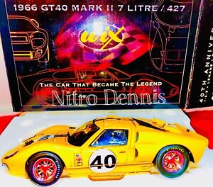 NHRA Wix Collectibles 1966 Ford GT40 Mark II 7 Litre 427 1:24 Diecast 40th Ann