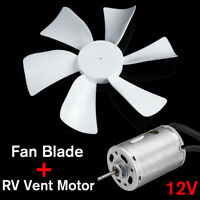 RV Vent Motor with Fan Blade 12 Volt Home Bathroom, Mobile Home RV Motor Exhaust