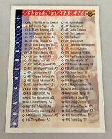 1992-93 Upper Deck #420 Checklist Michael Jordan HOF NM+