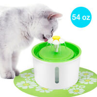 54 oz Electronic Pet Dog Water Fountains Automatic Drinking Dispenser & Filters