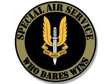 """4"""" SAS SPECIAL SERVICE  AIR WHO DARES WINS HELMET BUMPER DECAL STICKER USA MADE"""