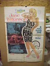 THE BELLBOY AND THE PLAYGIRLS, orig 1-sht / 3-D movie poster (June Wilkinson)