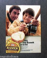 [GCG]  O043 - Advertising Pubblicità - 1969 - RAMEK FORMAGGIO , CAROSELLI RAMEK