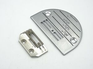 INDUSTRIAL SEWING MACHINE NEEDLE PLATE & FEED DOG FITS, BROTHER, JUKI, JACK +