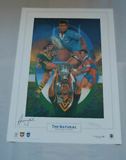 ANDREW JOHNS NEWCASTLE KNIGHTS HAND SIGNED LIMITED EDITION THE NATURAL