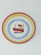 1 Mikasa Bar Harbor Handcrafted Portugal Soup Cereal Bowl Nautical Schooner