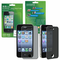 US SELLER Privacy LCD Screen Protector Cover Guard for Apple iPhone 4 4G 4S NEW!