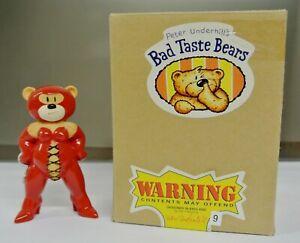 RARE BOXED BAD TASTE BEAR FIGURE FOR FEB 2000 - SCARLET - NO 9 - UNPAINTED EARS.